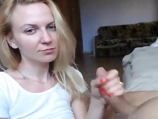 Morose Eyes Blonde Hot Blowjob