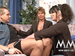 MMV Films Mature instructor having divertissement more a couple