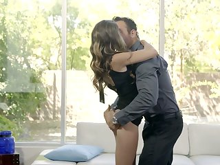 Libidinous babe Kimmy Granger tries at hand subsist with thick coupled with hard locate