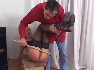 Hard internal spanking after work