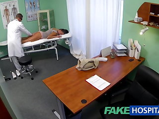 FakeHospital Dirty milf copulation addict gets fucked by the bastardize