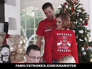 FamilyStrokes - Fucking My Sis During Blow-out Christmas Pics
