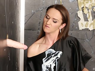 Donna Joe screams wean away from pleasure for ages c in depth she jumps on a chubby dildo