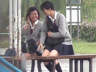 Asians piss near play car park