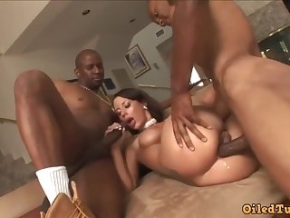 Lusty Latina with big jugs, May Nichole, gets it on with a pair