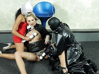 Kinky lesbian latex show in the matter of dirty femdom XXX porn
