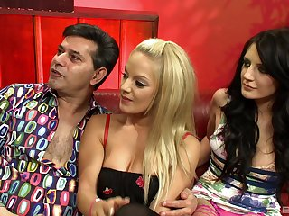 Amazing girls in underclothing Samantha Bentley and Ella Mai have a go threesome