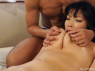 Two hard dicks keister satisfy all sexual needs of hot Sankihon Nozomi