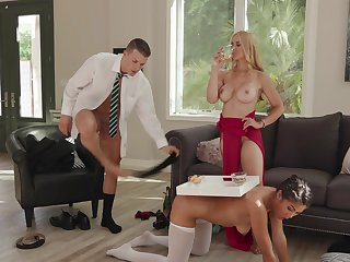 Lucrative slut Sarah Vandella has Kendra Spade and a stud to meet their way needs