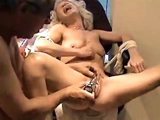This lewd blonde loves her rabbit vibrator and her wet pussy is the proof