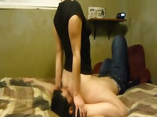 Lusty pallid GF of my buddy is used to sitting on his characteristic