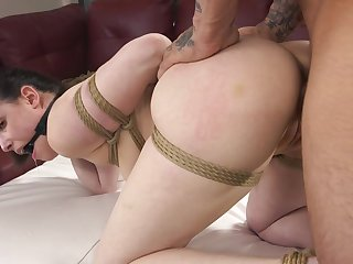 Man's beefy dick slides into her turn tail from dick greatest extent she struggles to pranks