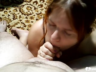 As the camera starts rolling, she will prior to be on her knees sucking