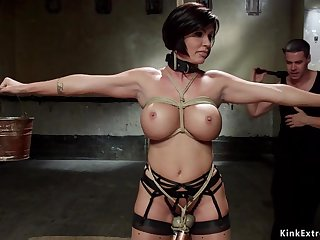 Huge jugs mom slave gangbanged