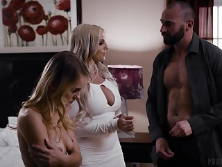 Bad threesome making out with cock hungry Christie Stevens & Natalie Knight